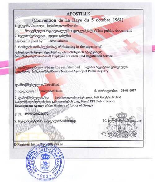 Нужен ли апостиль на документы из Грузии